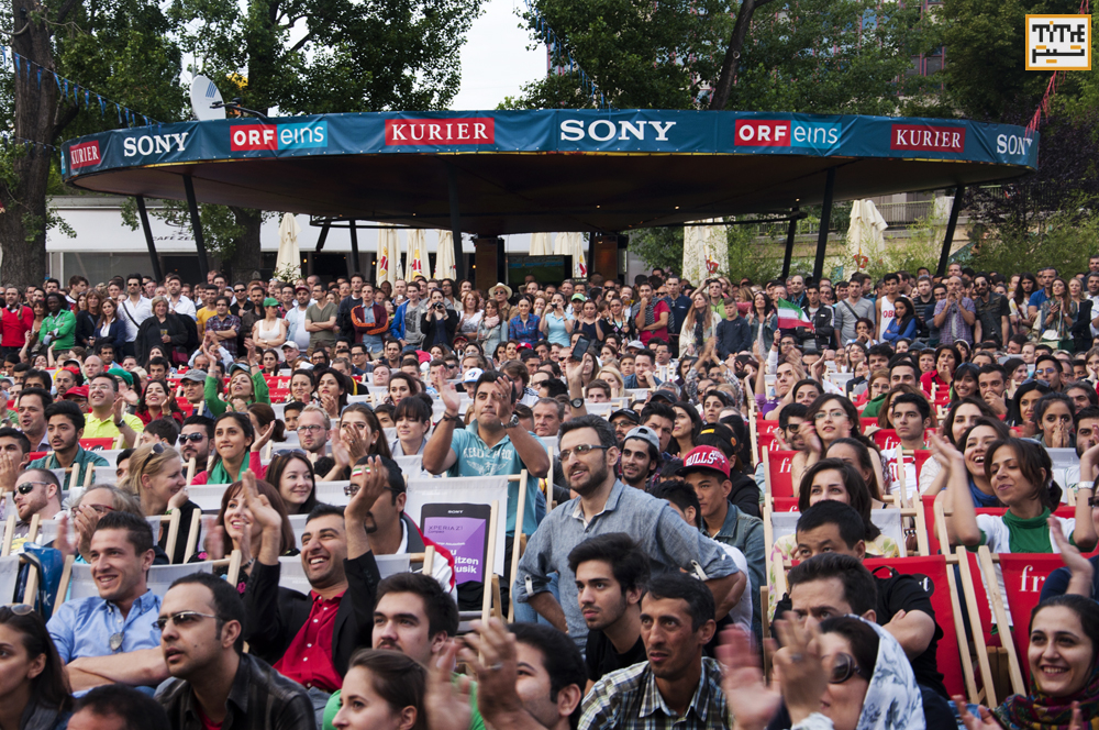 Norway- Iran Soccer Fans are watching the World Cup game against Argentina Photo By Alireza Farsaei