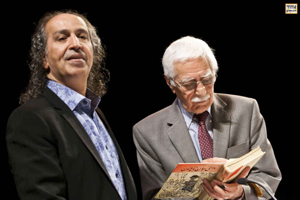 Iraj Pezeshkzad and Dr. Mohamad Tavakoli  photo By Pooyan Tabatabaei