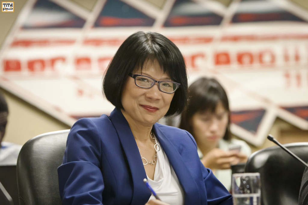 Olivia Chow at Toronto Mayoral Candidate Roundtable Photo By Pooyan Tabatabaei
