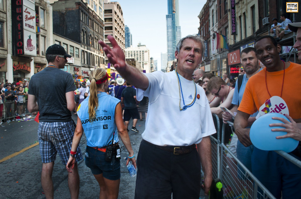 David Soknacki,  Toronto Mayoral Candidate at Gay Parade Toronto 2014 - Photo By Helia Ghazi