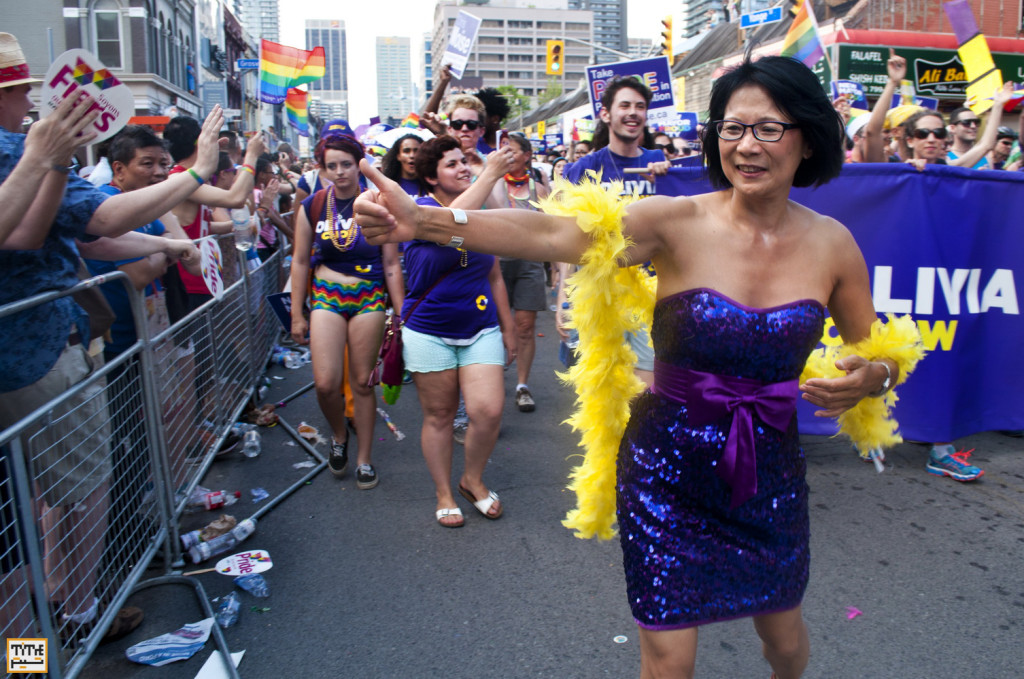 Olivia Chow, Toronto Mayoral Candidate at Gay Parade Toronto 2014 - Photo By Helia Ghazi