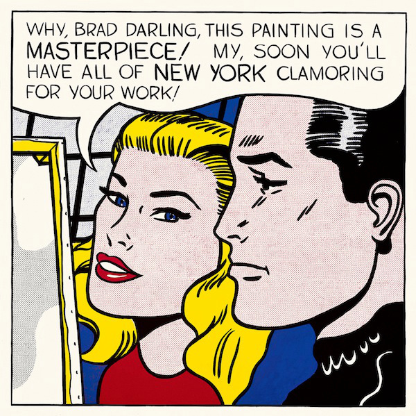 Roy Lichtenstein Masterpiece, 1962 oil on canvas overall: 137.2 x 137.2 cm (54 x 54 in.) Agnes Gund Collection, New York