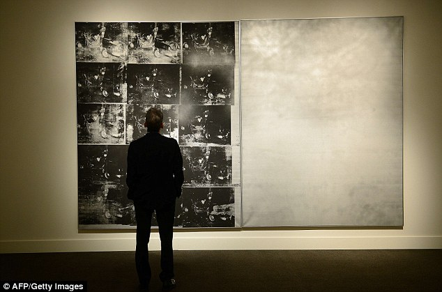 SILVER CAR CRASH (DOUBLE DISASTER)  sold at Sotheby's Contemporary Art Auction on Wednesday, November 13, 2013 for $105.4 million