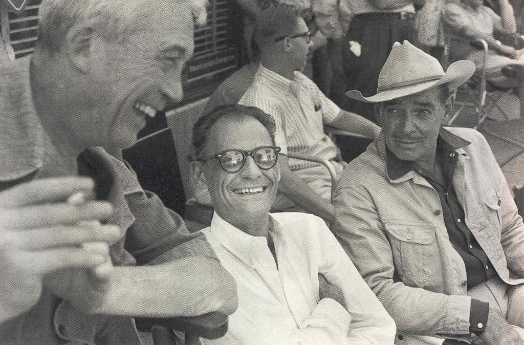 Arthur Miller, John Huston and Clark Gable