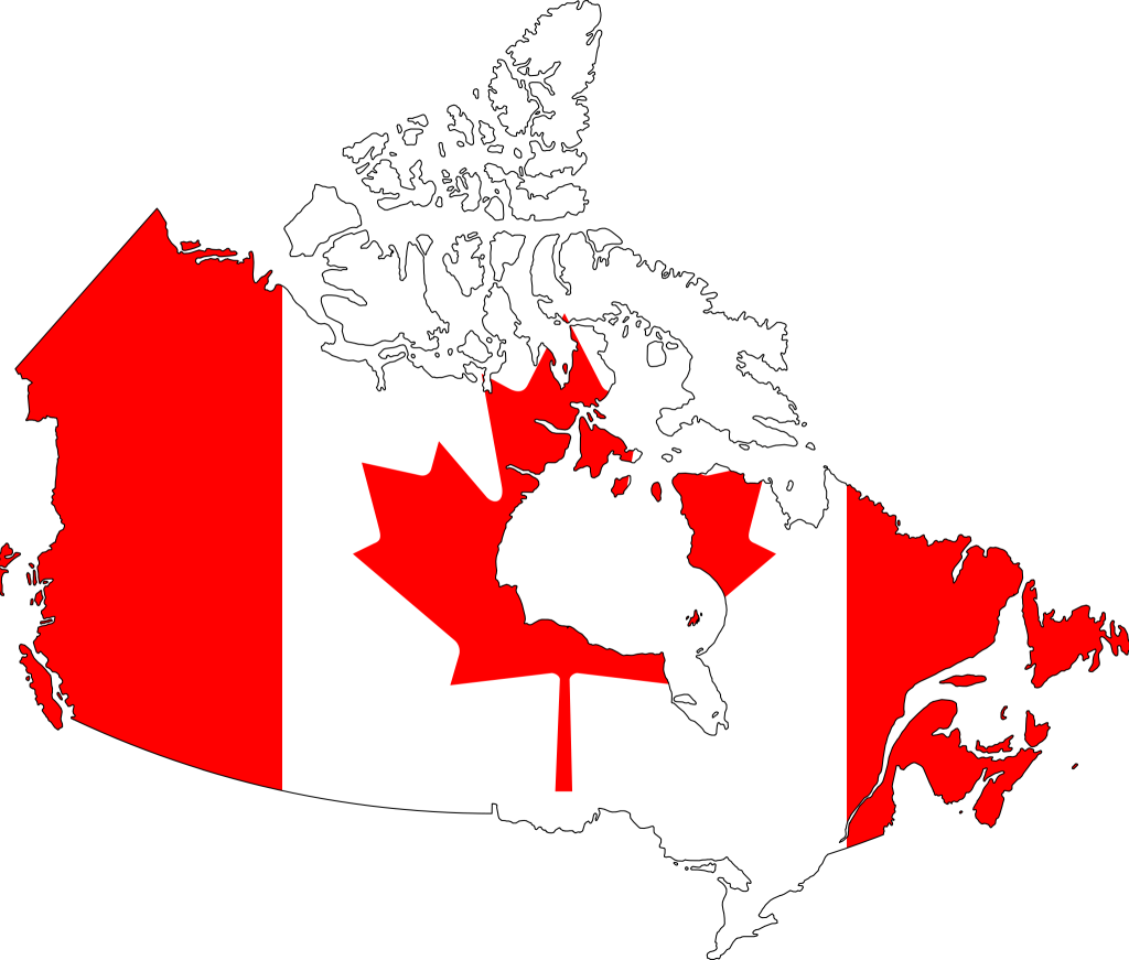 Canada_flag_map