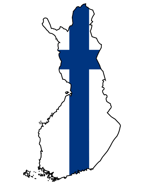 finnish-flag-map