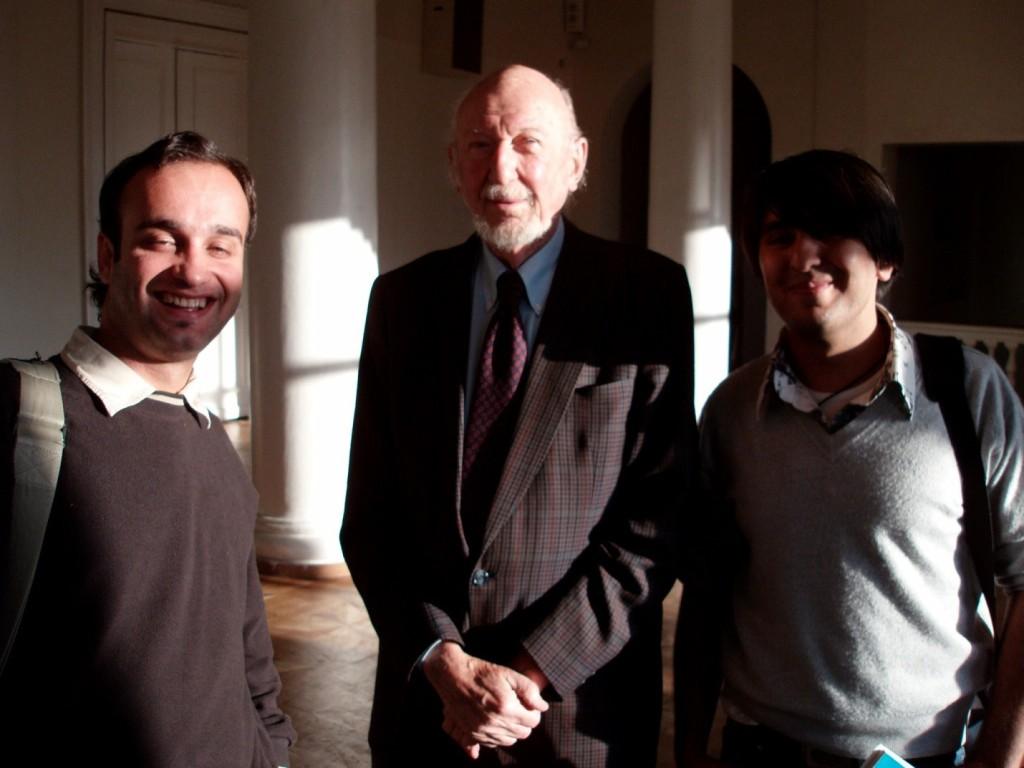 با اروین کرشنر کارگردان شهیر سری دوم جنگ ستارگان و عزیز ستاروف مستندساز تاجیکی بعد از مستر کلاس-مسکو ۲۰۰۶