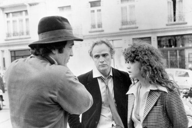 برناردو برتولوچی, ماریا اشنایدر و مارلون براندو در فیلم آخرین تانگو در پاریس