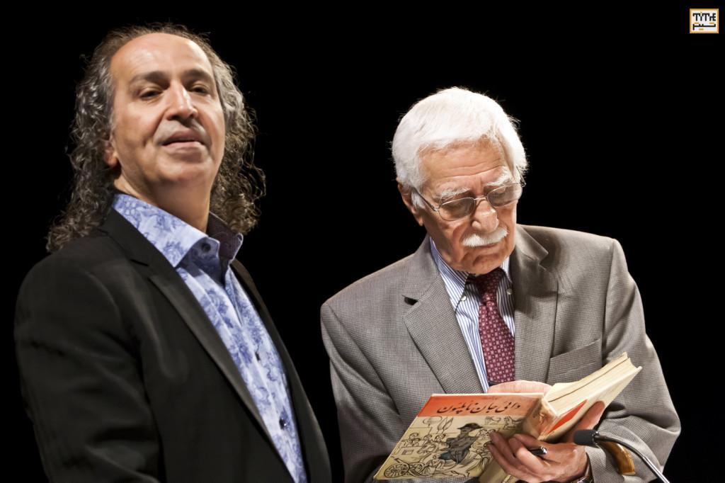 Iraj Pezeshkzad and Dr. Mohamad Tavakoli photo By Pooyan Tabatabaei