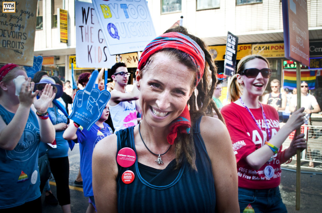 Sarah Thomson, Toronto Mayoral Candidate at Gay Parade Toronto 2014 - Photo By Helia Ghazi