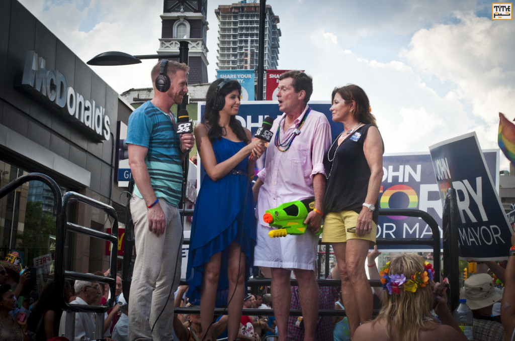 John Tory, Toronto Mayoral Candidate at Gay Parade Toronto 2014 - Photo By Helia Ghazi