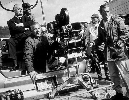 behind-the-scenes Footage of Alfred Hitchcock directing Birds