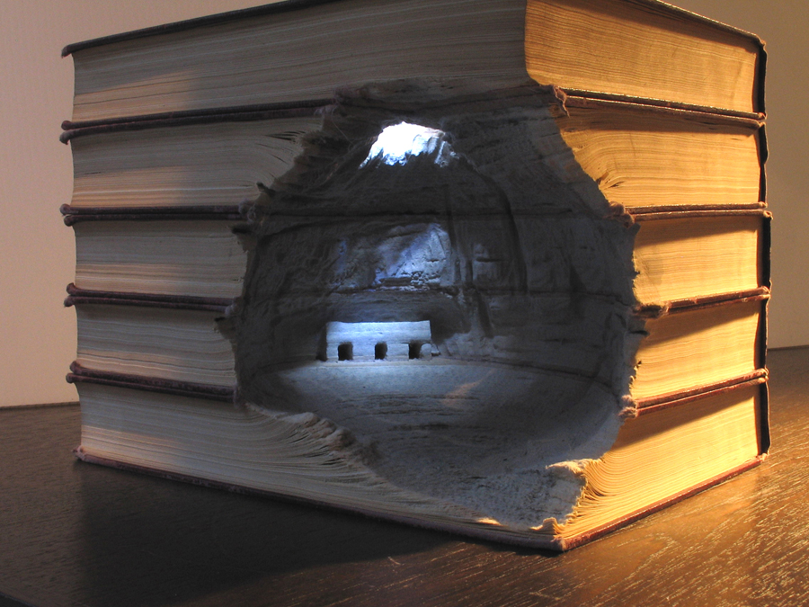 Sculpture in Books by Guy Laramee