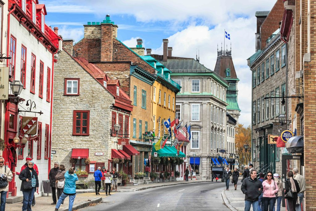Rue Saint-Louis in the Upper Town area of historic Old Quebec, Quebec City, Quebec, Canada